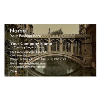 Bridge of Sighs, Cambridge, England vintage Photoc Double-Sided Standard Business Cards (Pack Of 100)