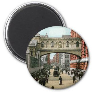 Bridge of Sighs, New York 2 Inch Round Magnet