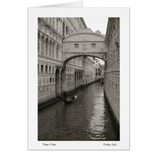 Bridge of Sighs Notecards Greeting Card