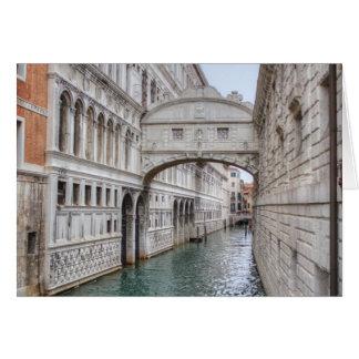 Bridge Of Sighs Venice Italy Card