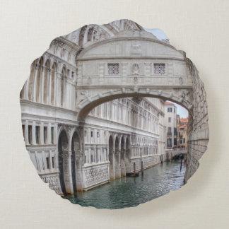 Bridge Of Sighs Venice Italy Round Pillow