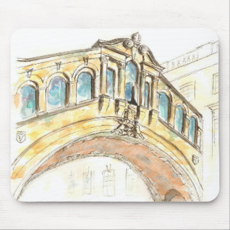 Bridge of Sighs watercolour drawing Mouse Pad