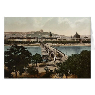 Bridge of the Guillotiere and the Hotel de Dieu, L Greeting Card