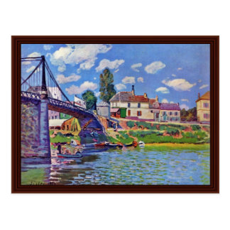 Bridge Of Villeneuve-La-Garenne Postcard