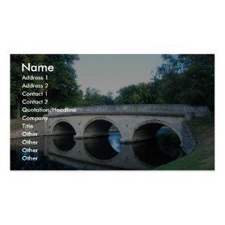 Bridge on River Cam, Trinity College, Dublin, Irel Business Card Templates