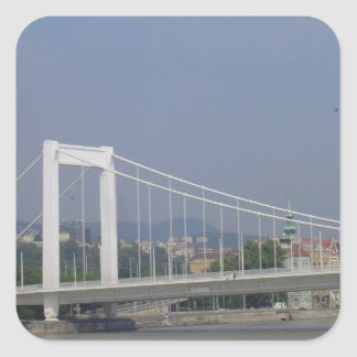 Bridge on the Danube Square Sticker