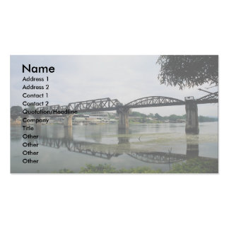 Bridge on the River Kwai, Kanchanaburi, Thailand Double-Sided Standard Business Cards (Pack Of 100)