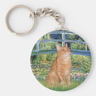 Bridge - Orange Tabby SH cat 46 Basic Round Button Keychain
