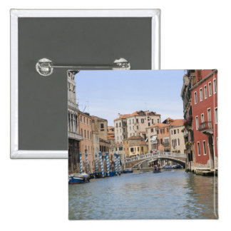 Bridge over a canal, Grand Canal, Venice, Italy Buttons