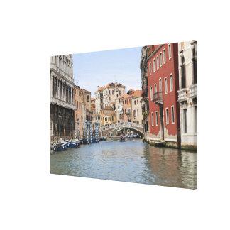 Bridge over a canal, Grand Canal, Venice, Italy Canvas Print