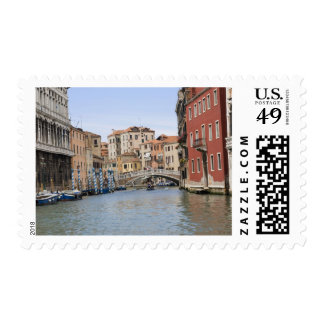 Bridge over a canal, Grand Canal, Venice, Italy Postage Stamp