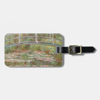 Bridge Over a Pond of Water Lilies Bag Tag