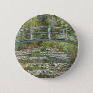 Bridge over a Pond of Water Lilies by Claude Monet Button