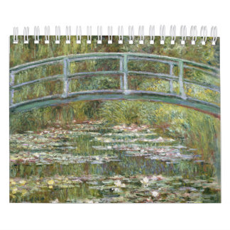 Bridge over a Pond of Water Lilies by Claude Monet Calendar