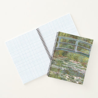 Bridge over a Pond of Water Lilies by Claude Monet Notebook