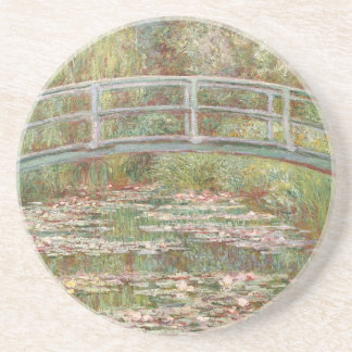 Bridge Over a Pond of Water Lilies by Monet Drink Coaster