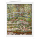 Bridge over a Pond of Water Lilies by Monet Large Greeting Card