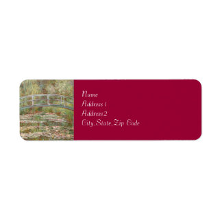 Bridge Over a Pond of Water Lilies by Monet Return Address Label