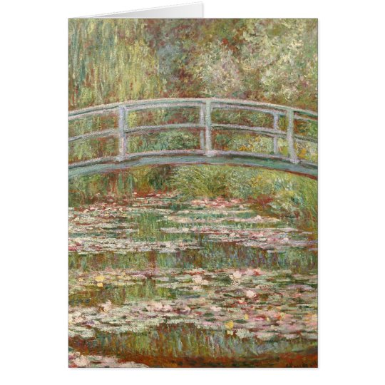 Bridge Over a Pond of Water Lilies Card