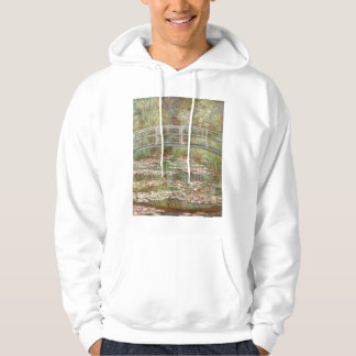 Bridge Over a Pond of Water Lilies Hoodie