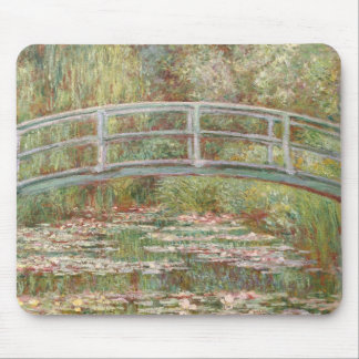 Bridge Over a Pond of Water Lilies Mouse Pad