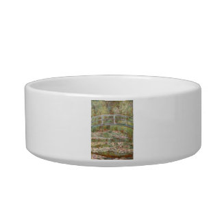 Bridge Over a Pond of Water Lilies Pet Bowls