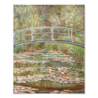 Bridge Over a Pond of Water Lilies Photo