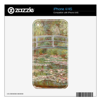 Bridge Over a Pond of Water Lilies Decals For iPhone 4