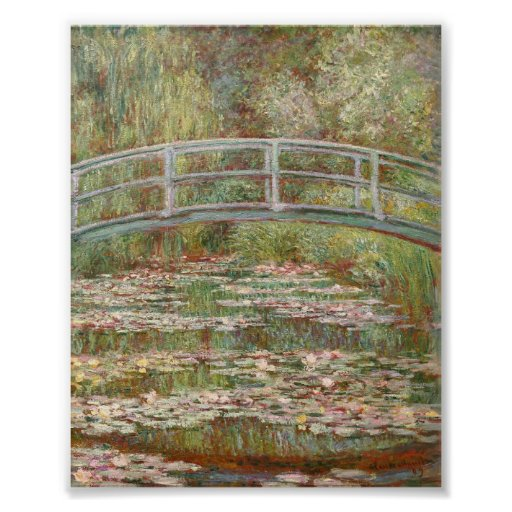 Bridge Over a Pond of Water Lillies by Monet Posters