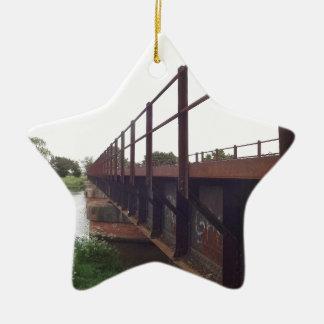 Bridge over ceramic ornament