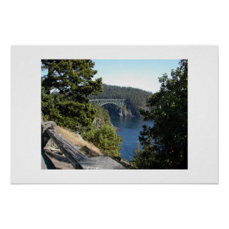 Bridge over Deception Pass Poster