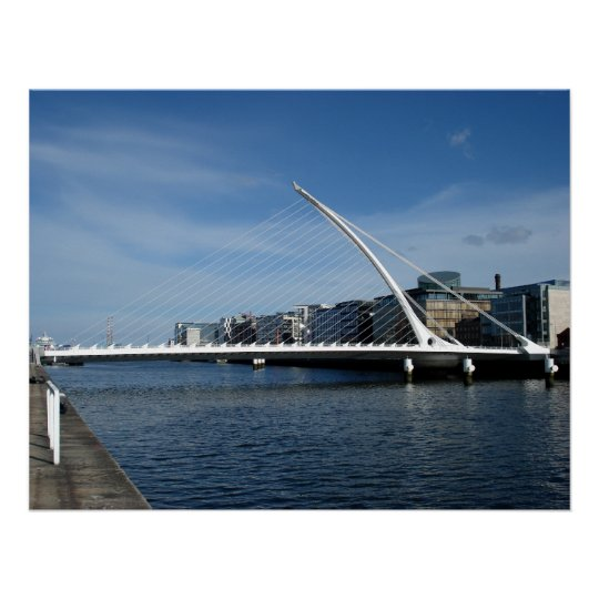 Bridge Over Dublin Ireland River Poster
