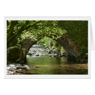 Bridge over Horner Water Exmoor Card