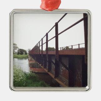 Bridge over metal ornament