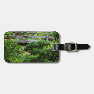 Bridge Over Pond In The Japanese Garden Bag Tag