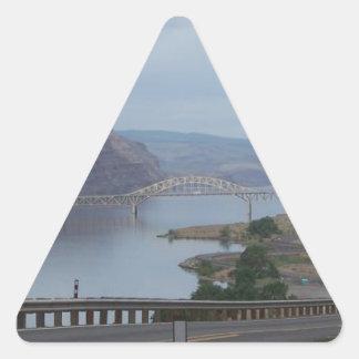 Bridge Over River Triangle Sticker