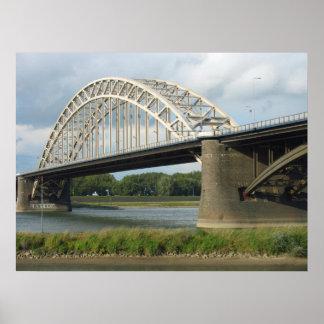 Bridge over River Waal (Waalbrug) Photo Poster