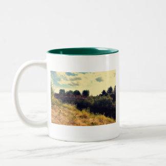 Bridge over Samammish River Two-Tone Coffee Mug
