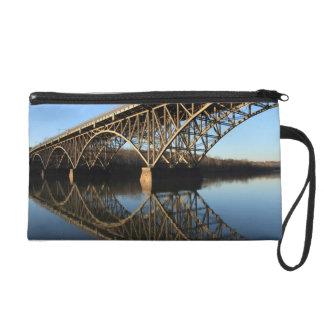 Bridge Over Schuylkill River Wristlet Purses