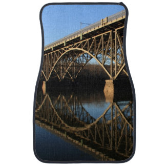 Bridge Over Schuylkill River Car Mat