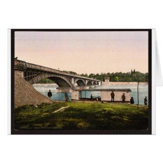 Bridge over the Allier, Vichy, France vintage Phot Cards