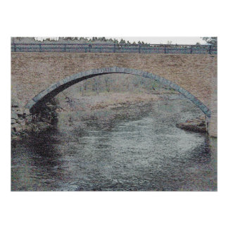 Bridge Over the Ausable River, Keeseville Poster