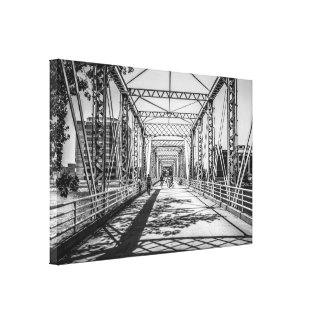 Bridge over the Grand River Grand Rapids Michigan Canvas Print