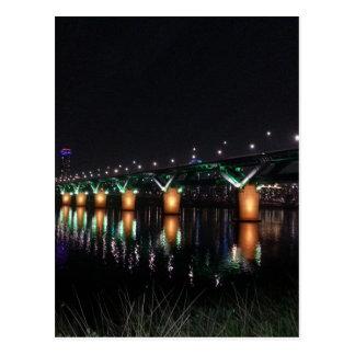 Bridge over the Han River at Night Postcard