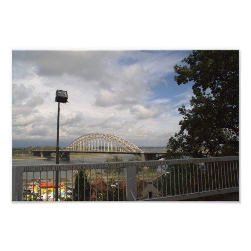Bridge over the river Waal Photo Print