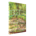 Bridge over the sea rose pond by Claude Monet Gallery Wrapped Canvas