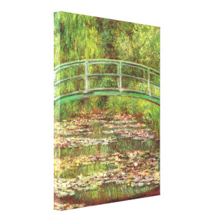 Bridge over the sea rose pond by Claude Monet Canvas Print
