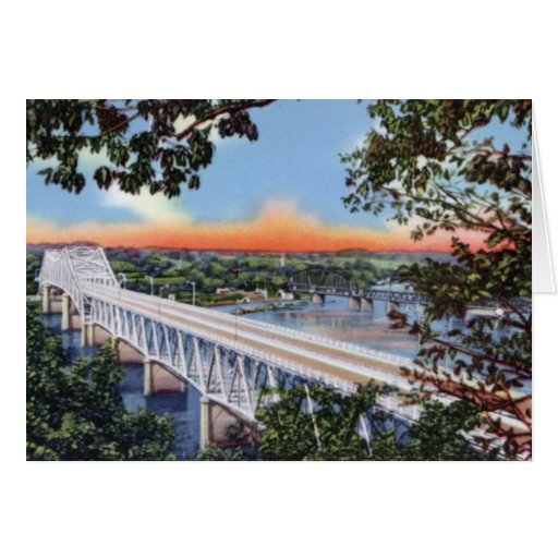 Bridge over the Tennessee River Florence Alabama Greeting Cards