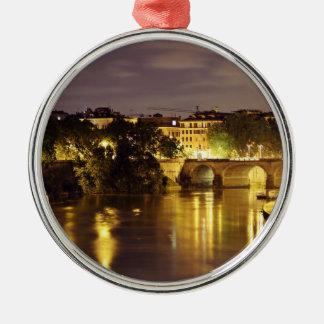 Bridge Over The Tiber River Christmas Tree Ornament