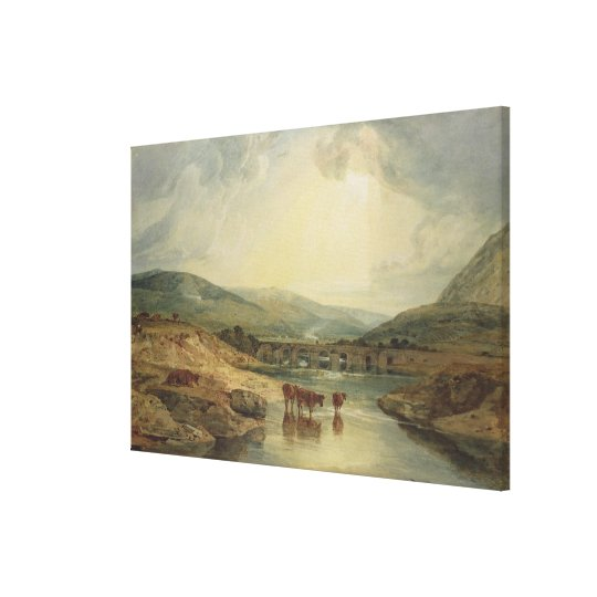 Bridge over the Usk Canvas Print